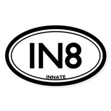 "Chiropractic Innate/""IN8"" Oval Decal"