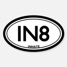 """Chiropractic Innate/""""IN8"""" Oval Decal"""