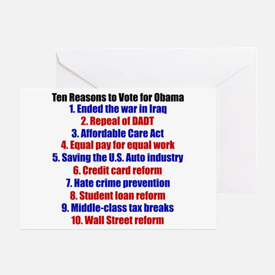 Obama's Accomplishments Greeting Card
