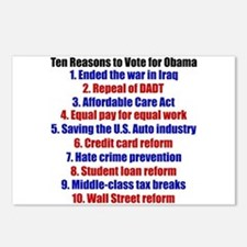 Obama's Accomplishments Postcards (Package of 8)