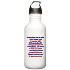 Obama's Accomplishments Water Bottle