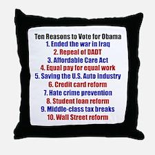 Obama's Accomplishments Throw Pillow