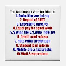 Obama's Accomplishments Tile Coaster