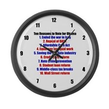 Obama's Accomplishments Large Wall Clock