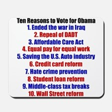 Obama's Accomplishments Mousepad