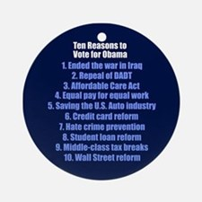 Obama's Accomplishments Ornament (Round)