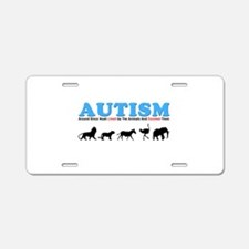 Autism, Around Since Noah Lin Aluminum License Pla