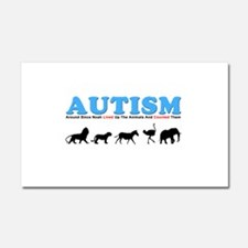 Autism, Around Since Noah Lin Car Magnet 20 x 12