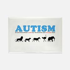 Autism, Around Since Noah Lin Rectangle Magnet (10