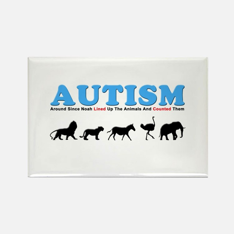 Autism, Around Since Noah Lin Rectangle Magnet
