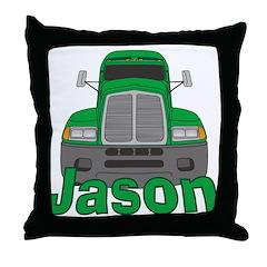 Trucker Jason Throw Pillow