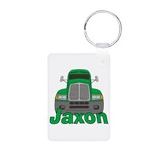 Trucker Jaxon Aluminum Photo Keychain