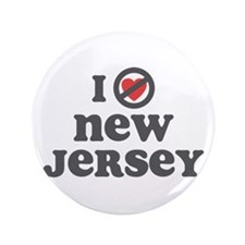 "Don't Heart New Jersey 3.5"" Button"