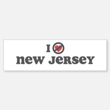 Don't Heart New Jersey Bumper Bumper Sticker