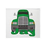 Trucker Jay Throw Blanket