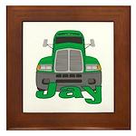 Trucker Jay Framed Tile