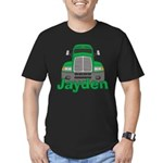 Trucker Jayden Men's Fitted T-Shirt (dark)
