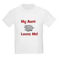 My Aunt Loves Me! w/elephant Kids T-Shirt