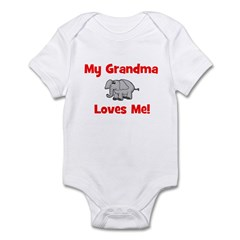 My Grandma Loves Me! w/elepha Infant Creeper