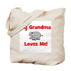 My Grandma Loves Me! w/elepha Tote Bag