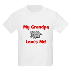 My Grandpa Loves Me! w/elepha Kids T-Shirt