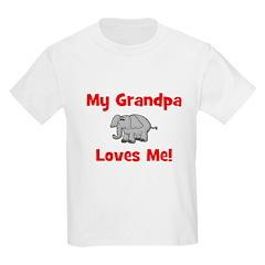 My Grandpa Loves Me! w/elepha Kids T-Shirt