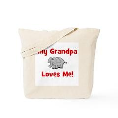 My Grandpa Loves Me! w/elepha Tote Bag