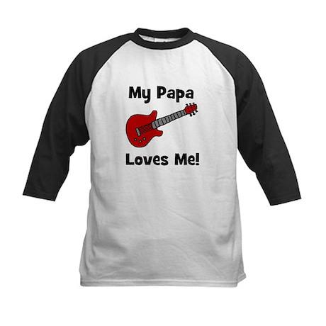 My Papa Loves Me! w/guitar Kids Baseball Jersey