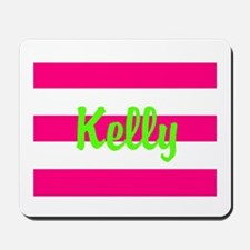 Personalized Pink and Green Mousepad
