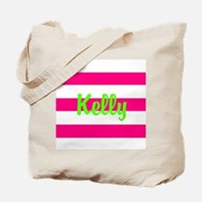 Personalized Pink and Green Tote Bag