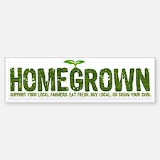 """""""Homegrown"""" Bumper Car Car Sticker"""