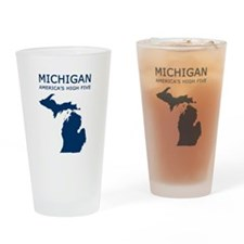 Cute Michigan Drinking Glass