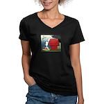 Smak! Women's V-Neck Dark T-Shirt