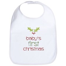 Baby's First Christmas Holly Bib