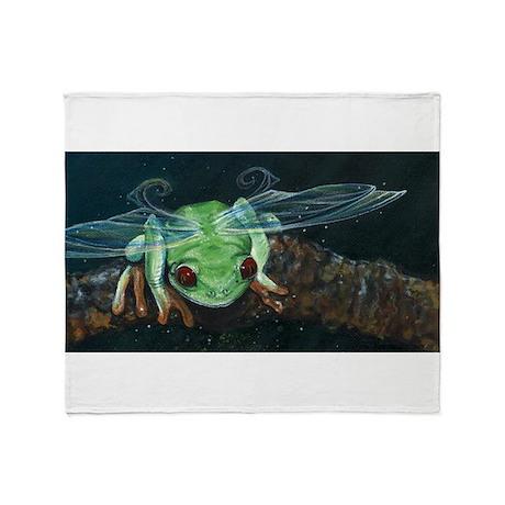 Wishing Frog II Throw Blanket