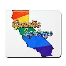 Granite Springs, California. Gay Pride Mousepad