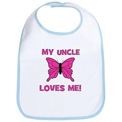 My Uncle Loves Me! w/butterfl Bib