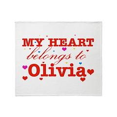 I love Olivia Throw Blanket