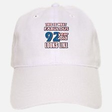 Cool 92 year old birthday designs Baseball Baseball Cap