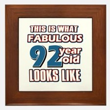 Cool 92 year old birthday designs Framed Tile