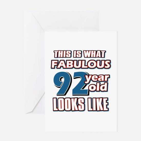 Cool 92 year old birthday designs Greeting Card
