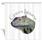 Green Iguana Shower Curtain