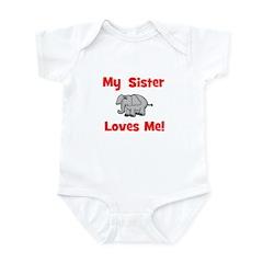 My Sister Loves Me! w/ elepha Infant Creeper