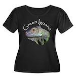 Green Iguana Women's Plus Size Scoop Neck Dark T-S