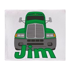 Trucker Jim Throw Blanket