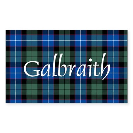 Tartan - Galbraith Sticker (Rectangle)
