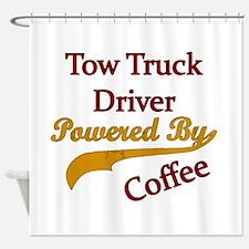 Cute Tow truck driver Shower Curtain