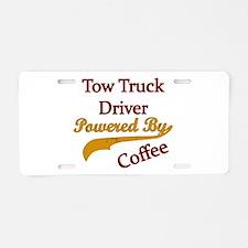 Cute Tow truck Aluminum License Plate