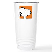 Fresh Orange Snoopy Travel Mug