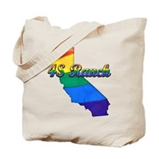 4S Ranch, California. Gay Pride Tote Bag